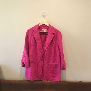 Michael Kors Pink linen Blazer size 14 W